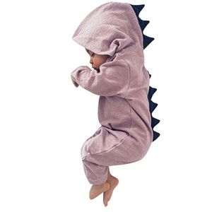 Other - Adorable Pink Dinosaur Hooded Baby Romper